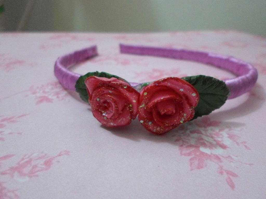 cerchietto per capelli rosa,idea regalo,per bambini,feste compleanno,fatti a mano,gift idea,economico
