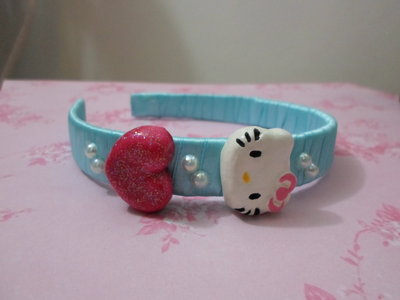 cerchietto per capelli hello kitty,idea regalo,per mambini,fatto a mano,economico offerta speciale,sp'ecial price