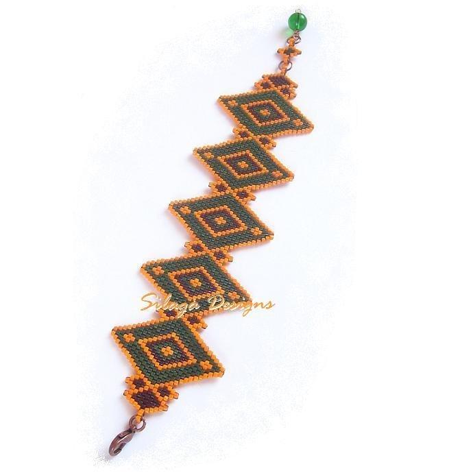 Bracciale polsino Geometrie - collezione Ethno Chic