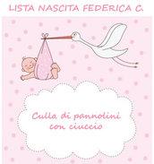 Lista nascita Federica C. - Mini culla di pannolini con ciuccio