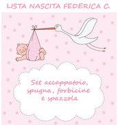 Lista nascita Federica C. - Accappatoio con spugna, spazzola e forbicine
