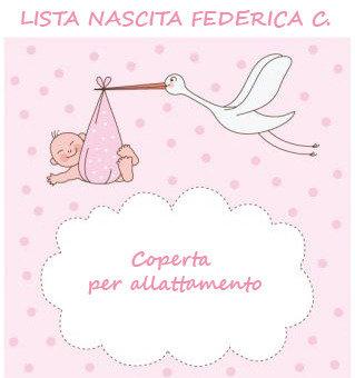 Lista nascita Federica C. - Coperta per allattamento
