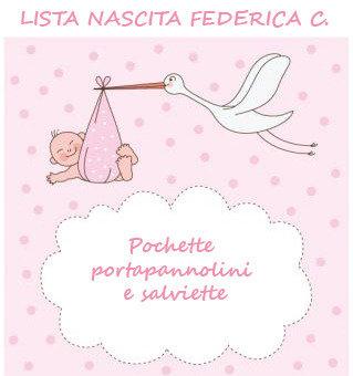 Lista nascita Federica C. - Pochette porta pannolini e salviette