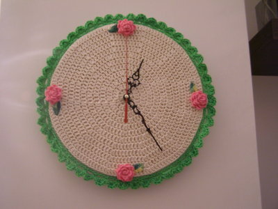 orologio da parete all 39 uncinetto per la casa e per te