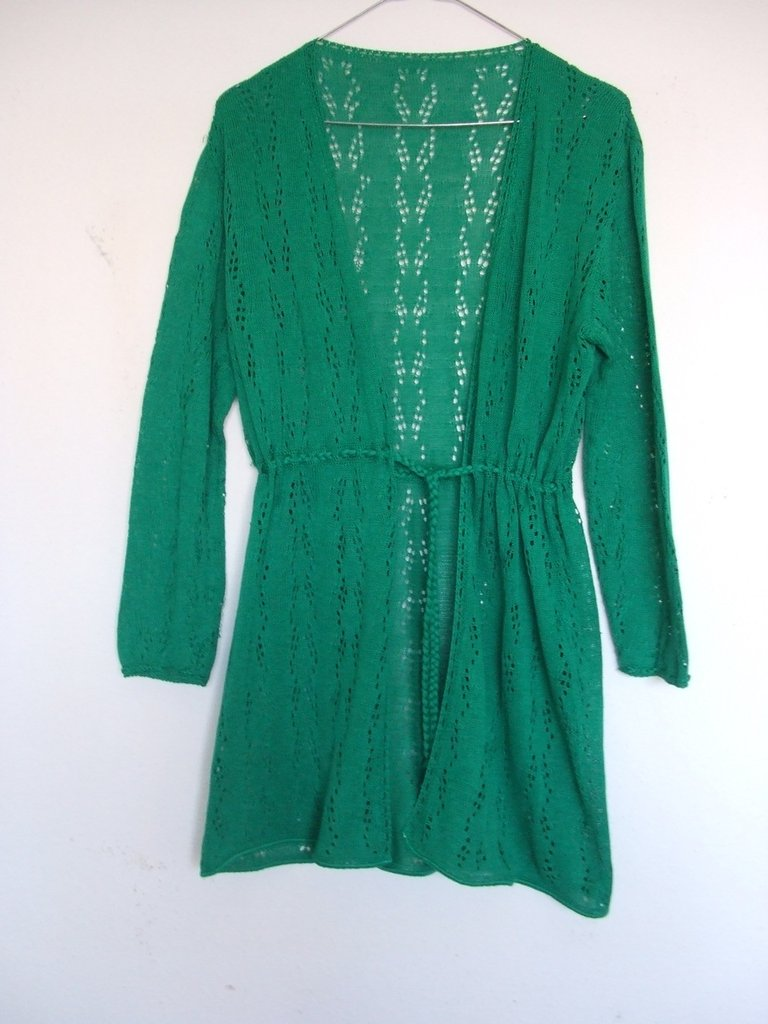cardigan donna cotone lana uncinetto