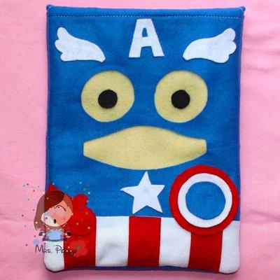 "Cover per tablet in pannolenci ""Capitan America"""