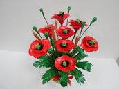 fiori fatti a mano con pasta di mais,idea regalo,gift idea,soprammobili,fatto a mano