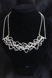 """Collana """"Nettuno"""" realizzata in argento lavorato e battuto"""