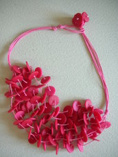 "Collana ""pink pois"""
