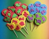 Muffin e CupCake Toppers^^ - Decorazioni per Dolci - Set Animaletti^^ (lotto 24pz)