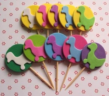 Muffin e CupCake Toppers^^ - Decorazioni per Dolci - Set Paperelle^^ (lotto 10pz)