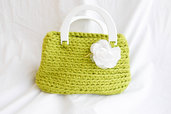 Bauletto  in fettuccia di cotone stretch  fatta a mano all'uncnetto, Crochet hand made
