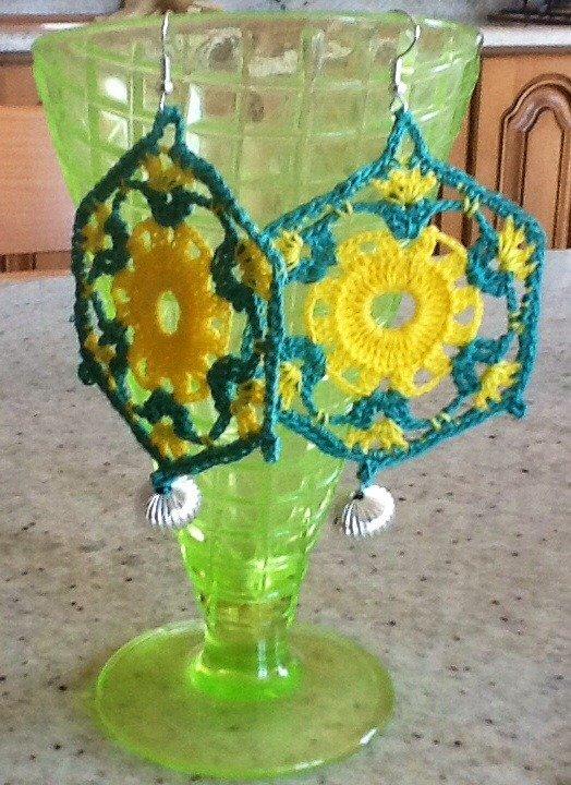 Orecchini Handmade gialli e verdi