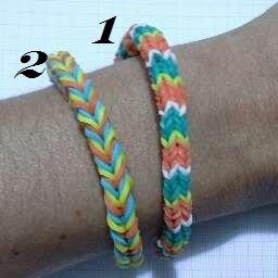 bracciale loom bands effetto tessuto a maglia