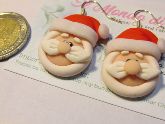 Orecchini Babbo Natale in Fimo