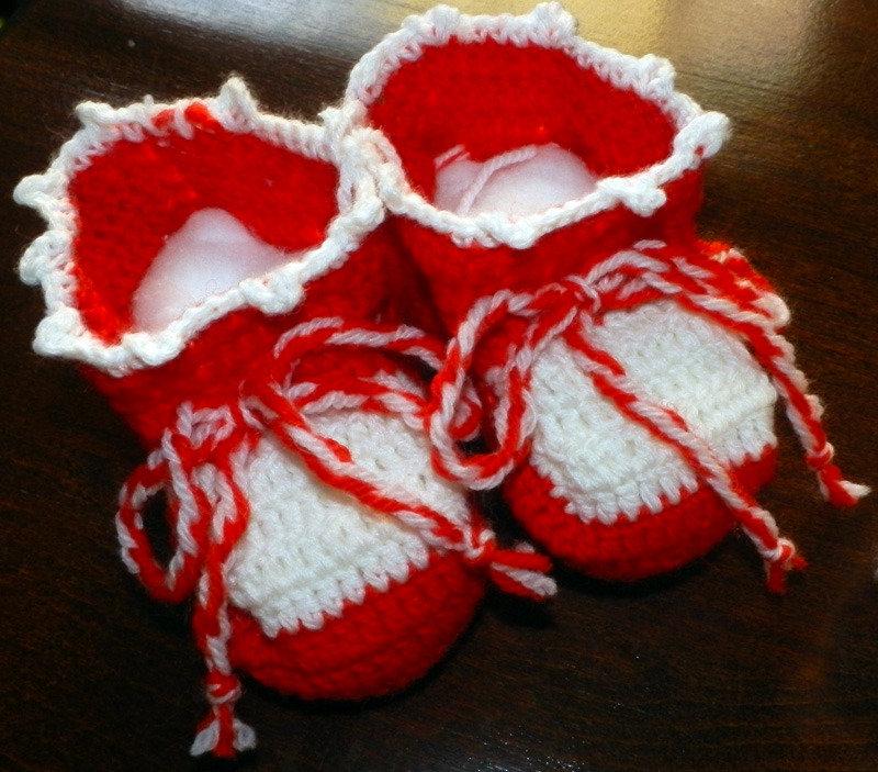 Scarpine lana neonato