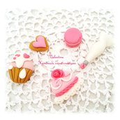 Calamite cake design macaron cupcake torta