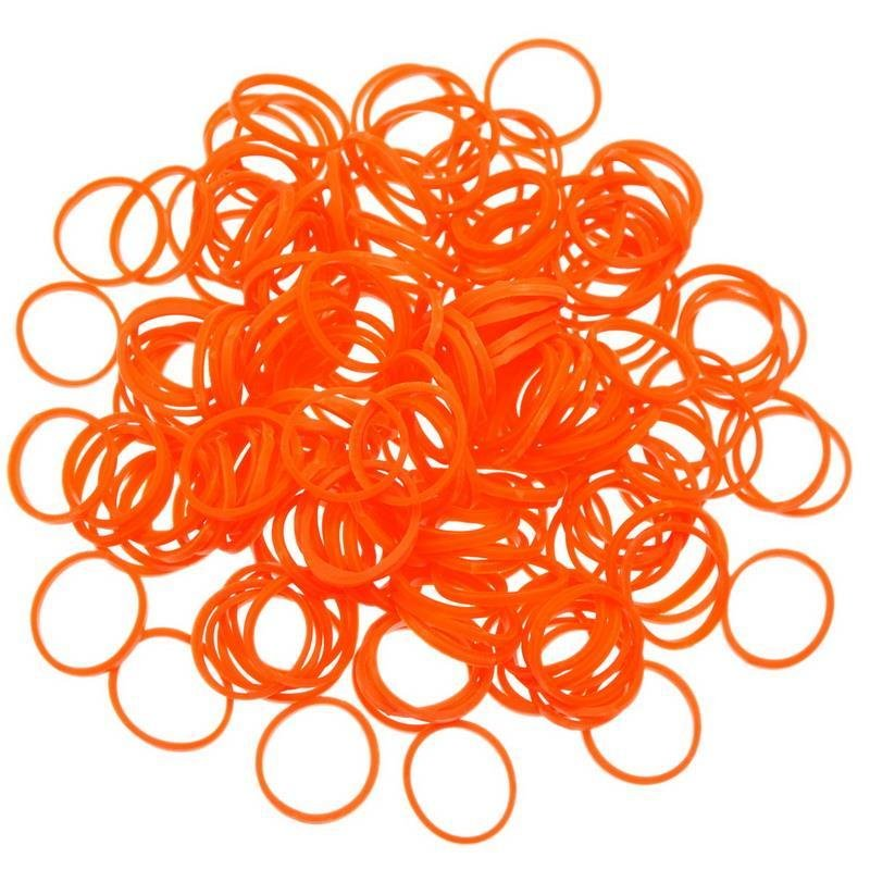 600 elastici profumati arancioniper loom bands in prenotazione