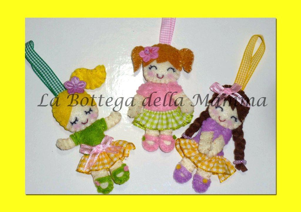 Bamboline personalizzabili in pannolenci