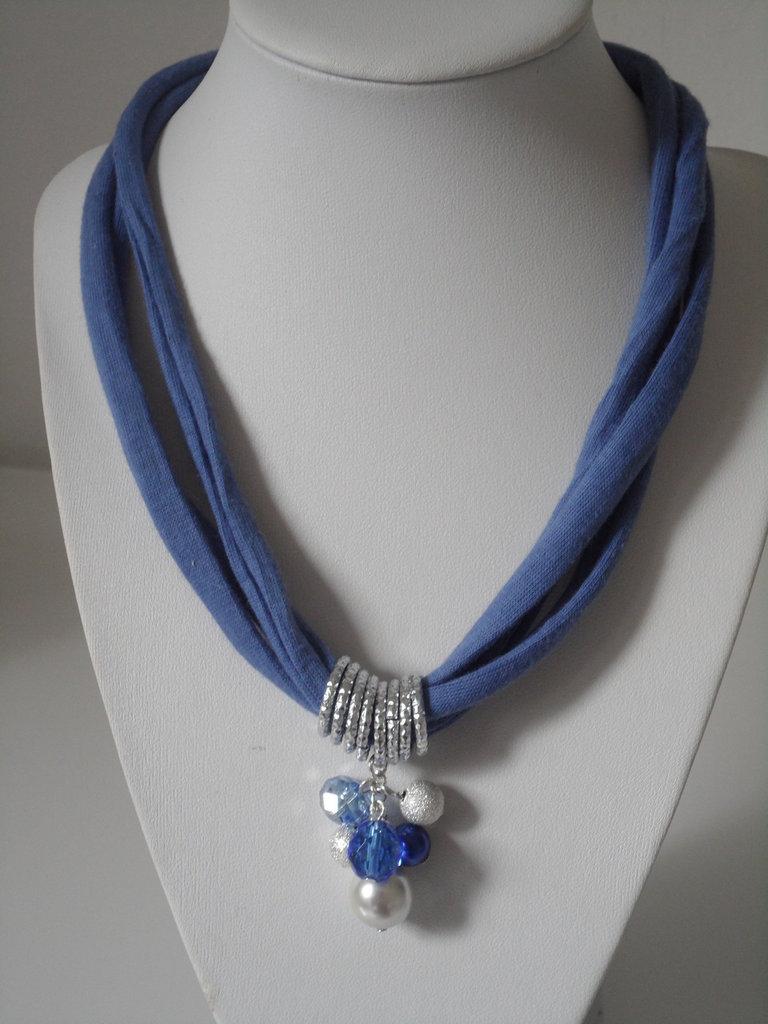 Collana in Fettuccia Blu