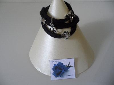 Bracciale Moda in Fettuccia Nero