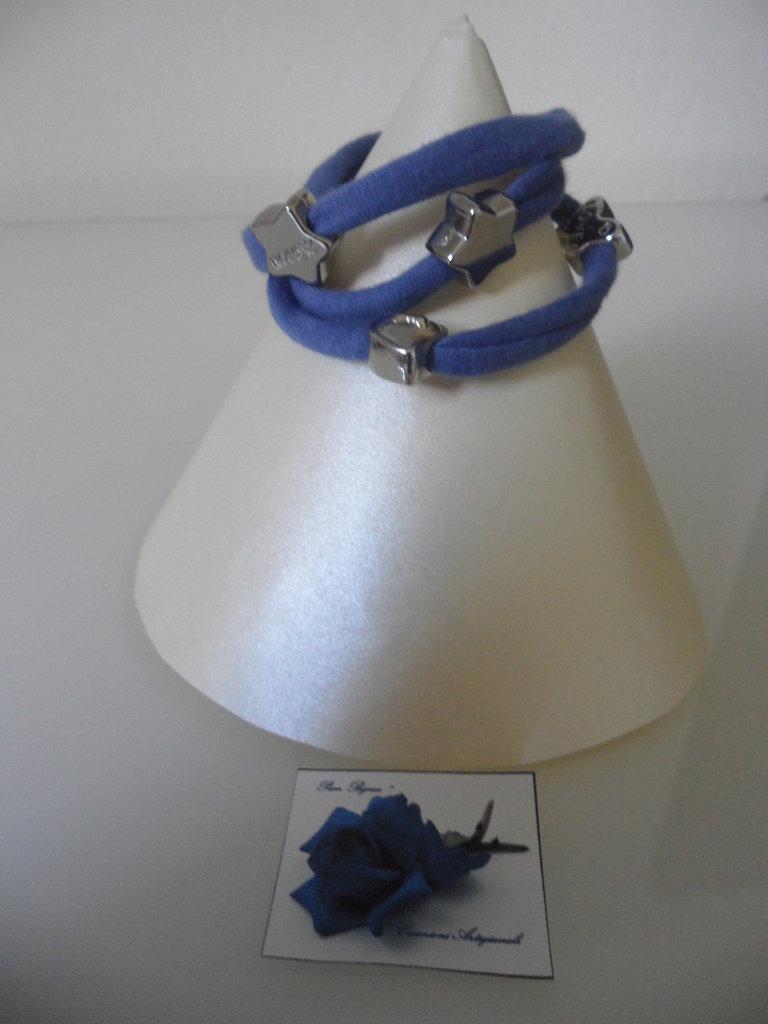 Bracciale Moda in Fettuccia Blu