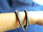 bracciale spirale cristal flat