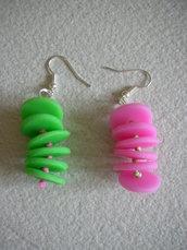 """Orecchini """"green&pink pois"""""""