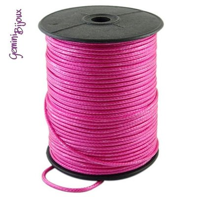 Lotto 1 mt. corda poliestere cerata mm. 2,3 hotpink