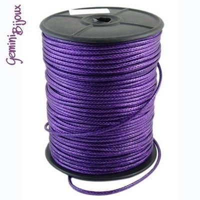 Lotto 1 mt. corda poliestere cerata mm. 2,3 purple