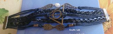 Braccialetto Personalizzato in Pelle ed Alcantara Harry Potter
