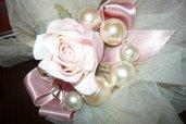 bracciale perle in vetro e swarovski