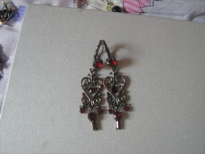 Orecchini vintage rubino 2