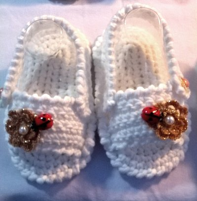 Sandalini sandaletti uncinetto cotone bimba 6-9 mesi