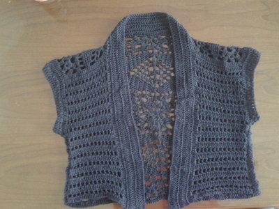 coprispalle di cotone a maniche corte