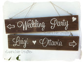 Cartelli in legno per matrimonio - Wedding wooden signs