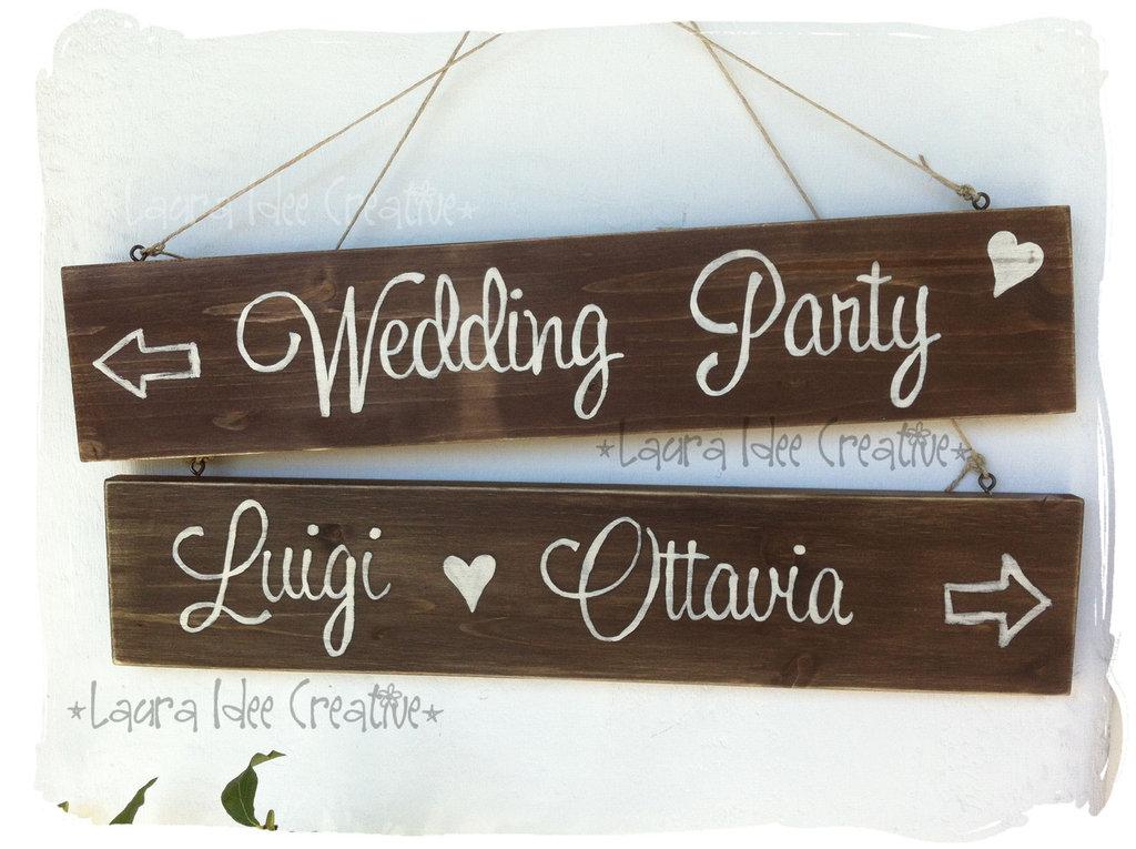 Cartelli in legno per matrimonio - Wedding wooden signs