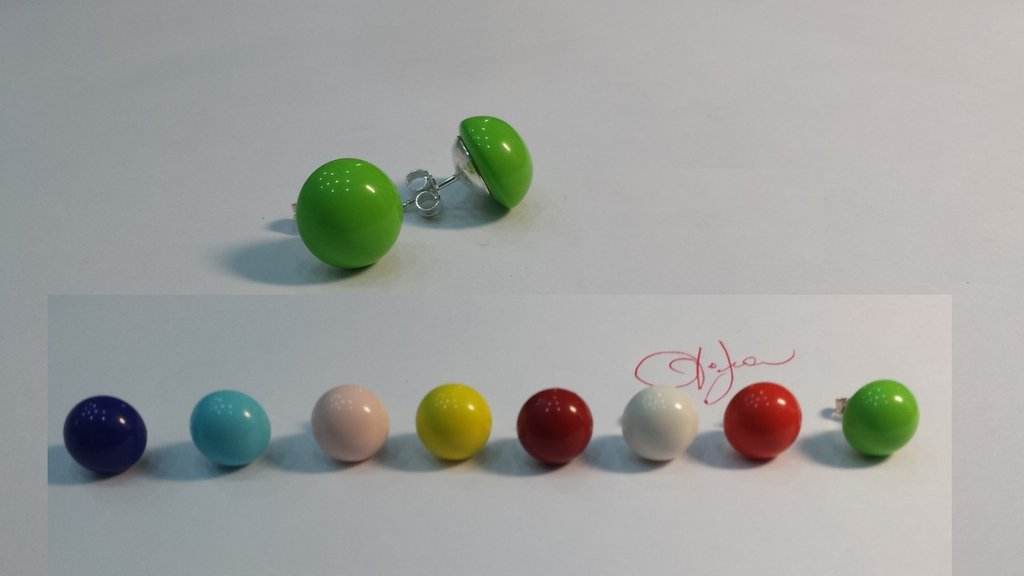 orecchini colorati e multicolor   in argento 925/1000