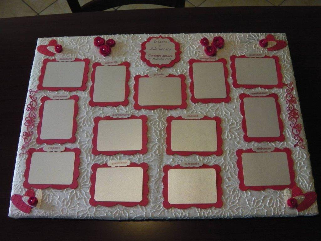 Matrimonio Tema Rosso E Bianco : Tableau de mariage feste matrimonio di frakrea su