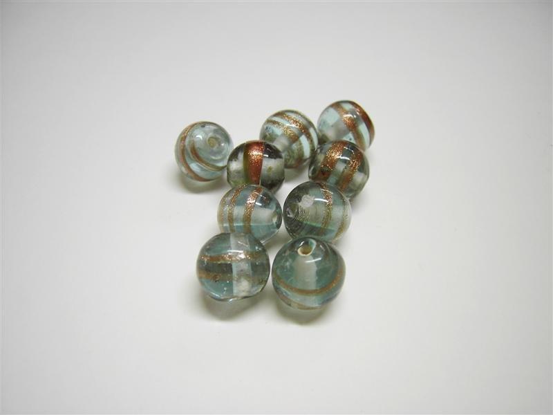 Perla in vetro tonda trasparente