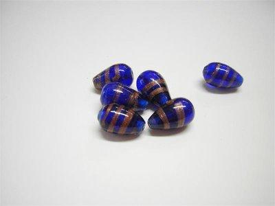 Perle in vetro goccia blu