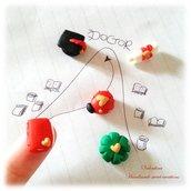 Cabochon decorazione sacchetto bomboniera laurea