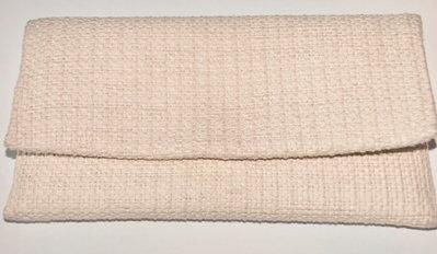 Pochette in cotone beige