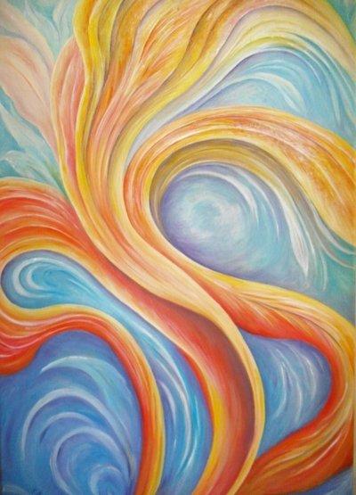 """"""" fantasia n. 2 """" dipinto su tela"""