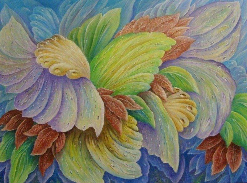 """""""fantasia n. 2"""" dipinto su tela"""