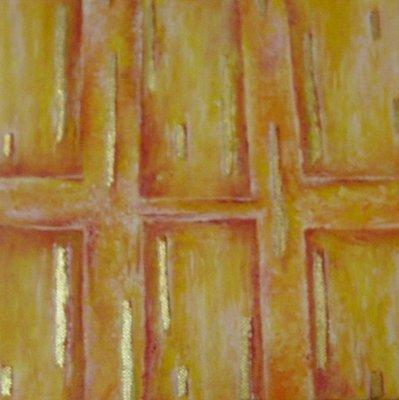 """""""geometrie"""" dipinto su tela con foglia d'oro"""