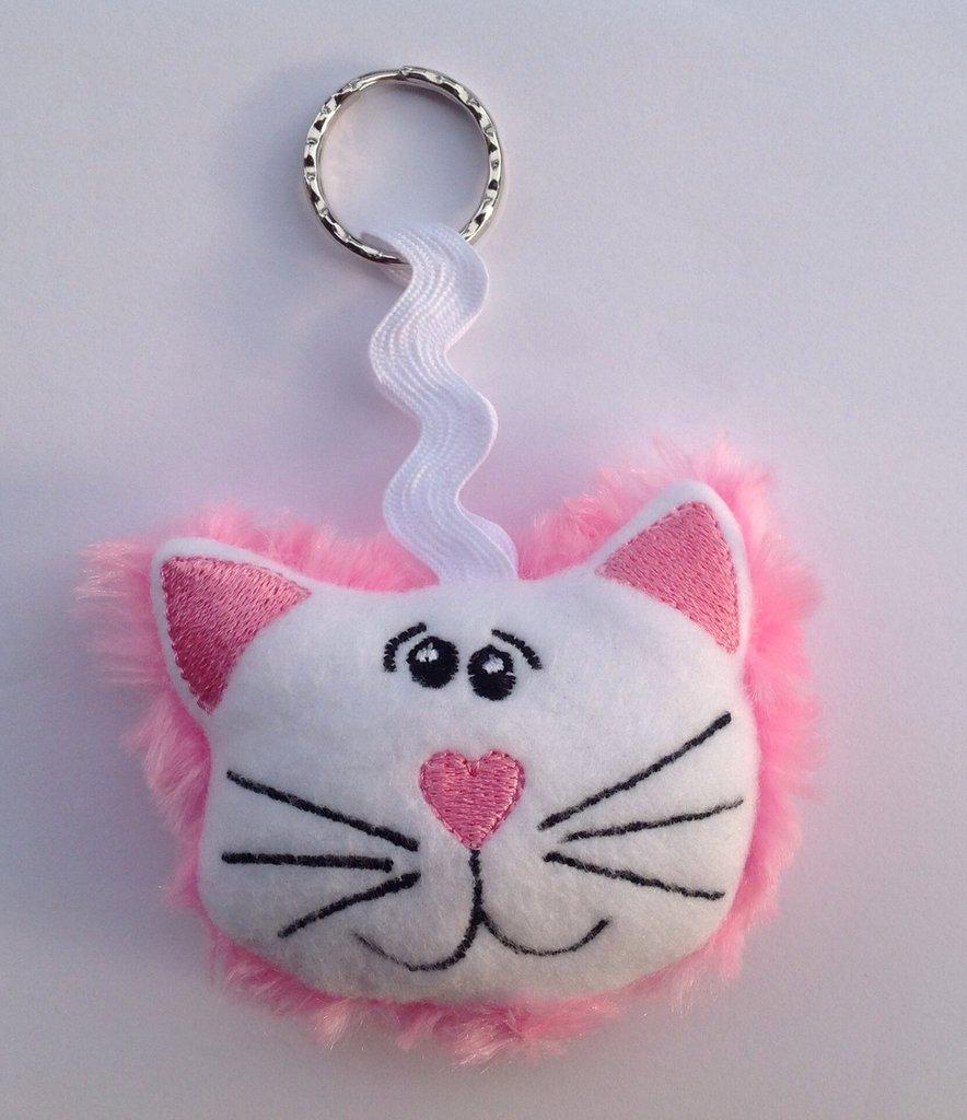 Portachiavi Gatto rosa