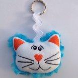 Portachiavi Gatto azzurro