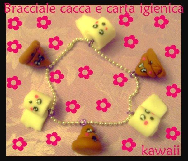 Bracciale cacca e carta igienica kawaii