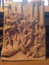 Scultura interamente fatta a mano su legno di tiglio